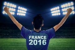 Jogador de futebol do Euro 2016 no estádio Imagens de Stock Royalty Free