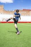 Jogador de futebol do futebol Imagem de Stock