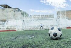 Jogador de futebol do futebol Fotografia de Stock