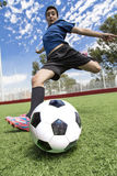 Jogador de futebol do futebol Imagens de Stock Royalty Free