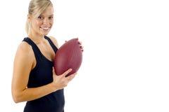 Jogador de futebol fêmea Imagens de Stock