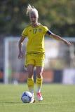 Jogador de futebol fêmea sueco - Caroline Seger Imagem de Stock