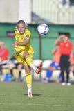 Jogador de futebol fêmea sueco - Lina Hurtig Fotos de Stock Royalty Free