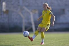 Jogador de futebol fêmea sueco - Magdalena Ericsson Imagens de Stock Royalty Free