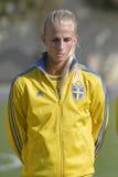 Jogador de futebol fêmea sueco - Sofia Jakobsson Imagem de Stock Royalty Free