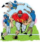 Jogador de futebol gigante ilustração do vetor