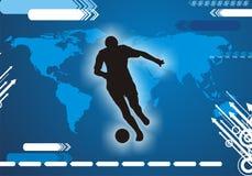 Jogador de futebol internacional Ilustração Royalty Free