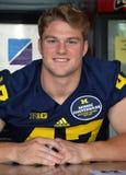 Jogador de futebol 47 Jake Ryan do UM Foto de Stock