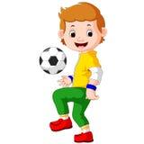 Jogador de futebol masculino dos desenhos animados ilustração do vetor