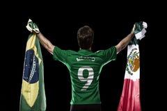 Jogador de futebol mexicano imagem de stock royalty free