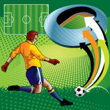 Jogador de futebol no estádio Fotos de Stock Royalty Free