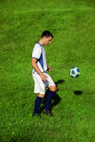 Jogador de futebol novo Imagens de Stock Royalty Free
