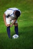 Jogador de futebol novo Fotos de Stock Royalty Free