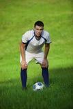 Jogador de futebol novo Imagem de Stock