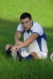 Jogador de futebol novo Foto de Stock Royalty Free