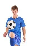Jogador de futebol novo Imagem de Stock Royalty Free
