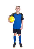 Jogador de futebol novo. Fotografia de Stock Royalty Free