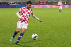 Jogador de futebol - Silva de Eduardo a Dinamarca Foto de Stock