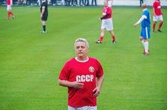 Jogador de futebol soviético Andriy Bal Fotografia de Stock Royalty Free