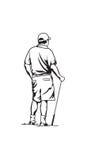 Jogador de golfe ilustração royalty free