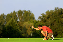 Jogador de golfe cinco Imagens de Stock Royalty Free