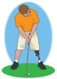Jogador de golfe do amputado Foto de Stock