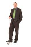 Jogador de golfe do negócio Fotografia de Stock