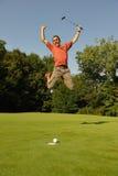 Jogador de golfe dois Fotos de Stock Royalty Free