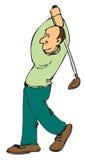 Jogador de golfe dos desenhos animados Fotografia de Stock Royalty Free