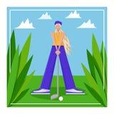 Jogador de golfe f?mea imagem de stock