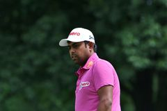 Jogador de golfe indiano Anirban Lahiri Fotos de Stock Royalty Free