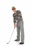 Jogador de golfe masculino novo fotos de stock