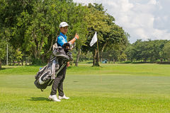Jogador de golfe novo foto de stock royalty free