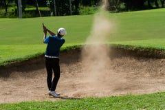 Jogador de golfe novo Foto de Stock