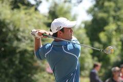 Jogador de golfe profissional Alexandre Rocha imagens de stock
