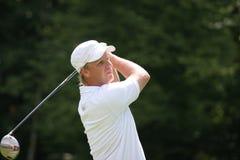 Jogador de golfe profissional Klas Eriksson fotografia de stock