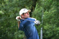 Jogador de golfe profissional Marcus Higley imagem de stock