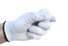 Jogador de golfe que prende uma esfera de golfe Foto de Stock Royalty Free