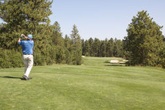 Jogador de golfe que Teeing fora Imagens de Stock Royalty Free