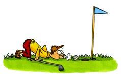 Jogador de golfe - série número 4 dos desenhos animados do golfe Fotografia de Stock Royalty Free