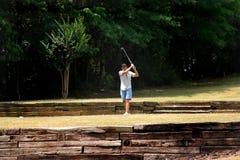 Jogador de golfe sênior Fotografia de Stock