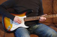 Jogador de guitarra Fotos de Stock