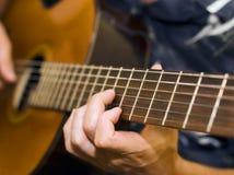 Jogador de guitarra Imagem de Stock