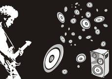 Jogador de guitarra ilustração stock