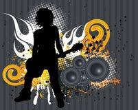 Jogador de guitarra Ilustração Royalty Free