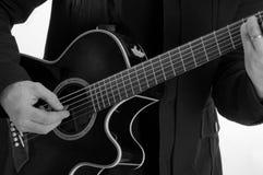 Jogador de guitarra Fotos de Stock Royalty Free