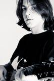 Jogador de guitarra Fotografia de Stock Royalty Free