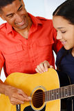 Jogador de guitarra adolescente fotos de stock royalty free