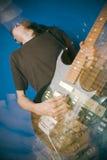 Jogador de guitarra da rocha Imagem de Stock