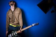 Jogador de guitarra da rocha Imagens de Stock Royalty Free